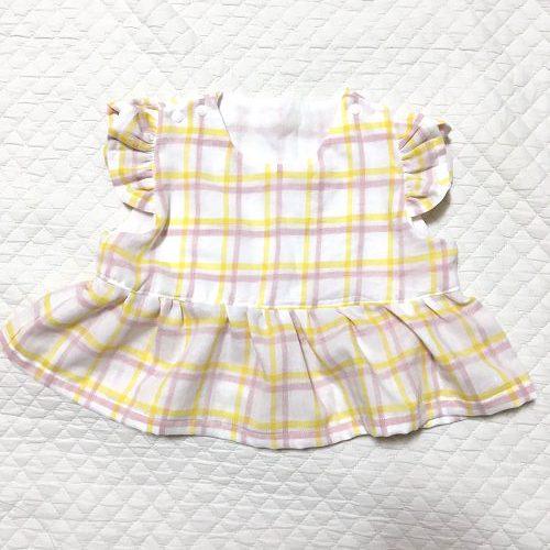 「佐藤かなが作る赤ちゃんのための服と小物」で作ったインナーつきワンピース